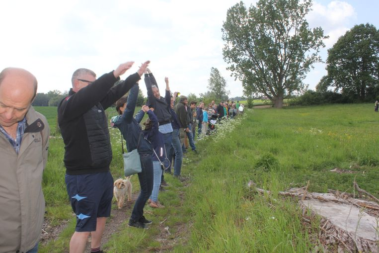 Voorstanders van de open ruimte verzamelden op de Siesegemkouter.