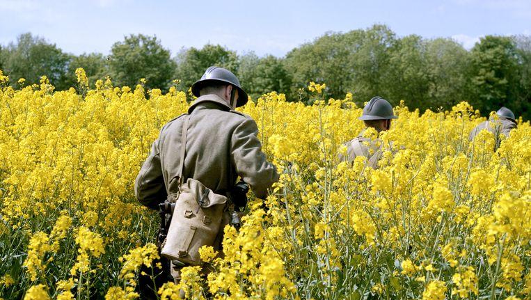 De slag om Fort Eben-Emael, gelegen in het Belgische Eben-Emael even ten zuiden van Maastricht, wordt nagespeeld. Dit uniek gelegen en superieur bewapend sperfort werd in die tijd beschouwd als het sterkste fort ter wereld en gold als onneembaar. Beeld Roger Cremers