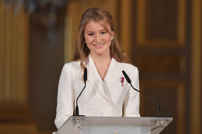 La princesse Elisabeth s'est exprimée à l'occasion de son 18e anniversaire célébré au Palais royal.