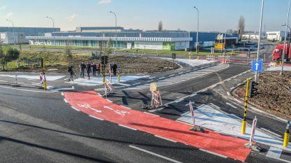 Kruispunt Noordlaan/Industrielaan vandaag open