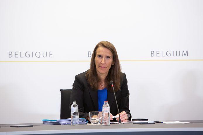 La Première ministre Wilmès, mercredi, à Bruxelles