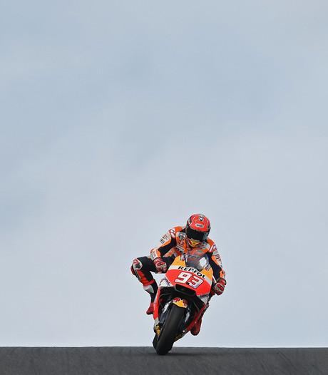 Márquez koerst af op MotoGP-titel na winst in Australië