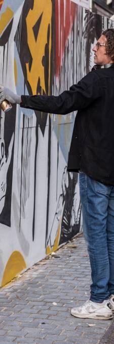 Streetart in Bredase St. Janstraat promoot Netflix-serie