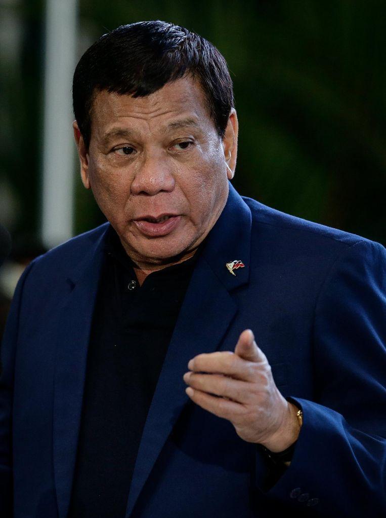 President Duterte. Beeld null