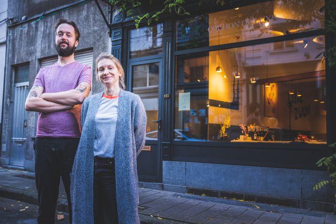 Tom en Alison van het Gentse restaurant Cochon De Luxe