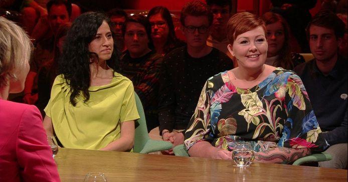 """Sigrid Schellen lors de son passage dans l'émission """"Van Gils & gasten"""" sur la VRT."""