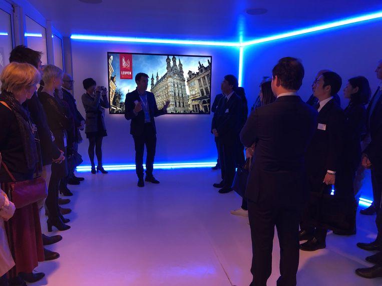 De Japanse delegatie toonde interesse in de Leuvense kenniseconomie.