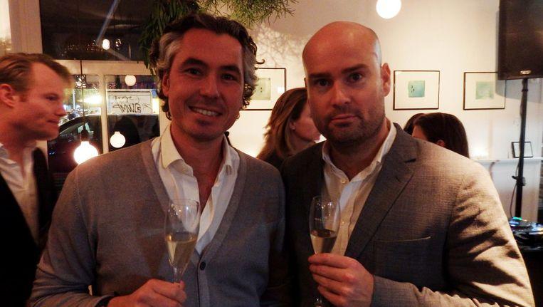 Horecamannen Michel Pais (links) en Daan Bonsen Beeld Schuim