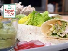 Recept van de dag: Volkorenwraps met kokoskip en guacamole