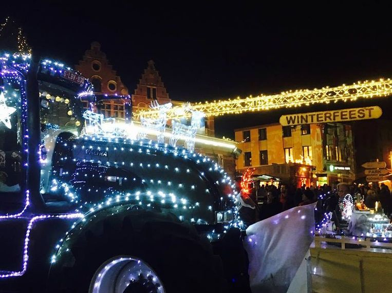 De tractorenstoet met lichtjes wordt één van de hoogtepunten.
