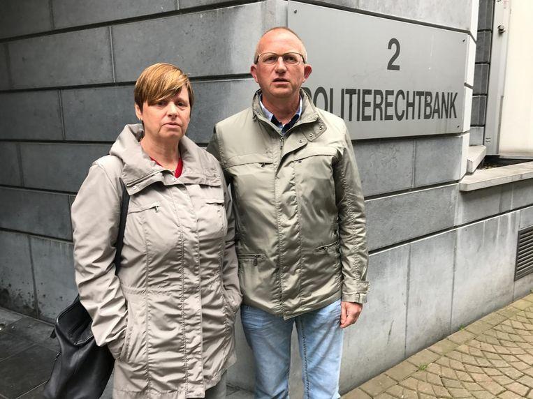 Ouders Martine en Chris Bruynseels aan de rechtbank.