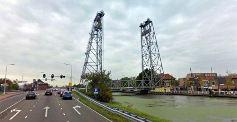 De hefbrug van Waddinxveen. FOTO STREETVIEW Beeld