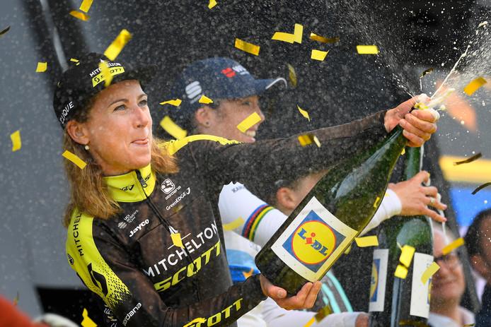 De Wageningse Annemiek van Vleuten werd recent tweede in de Ronde van Vlaanderen.