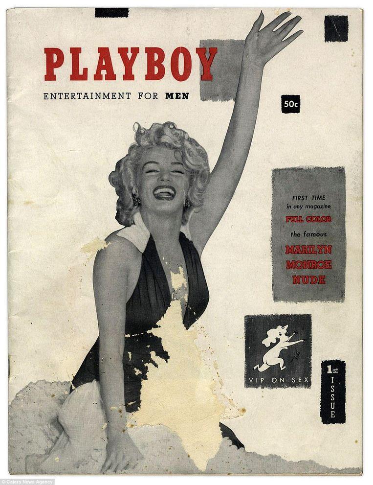 De eerste Playboy, uit 1953, met Marilyn Monroe op de cover. Beeld © Caters News Agency