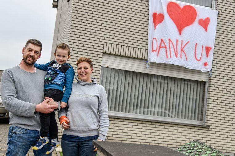 Ook de Familie Van Gucht uit Lebbeke doet mee.