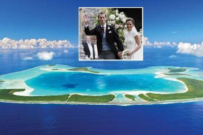 Op dit exclusieve droomeiland beleven Pippa en James honeymoon om van te duizelen
