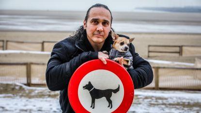 """Worstelkampioen in de bres voor viervoeters: """"Laat honden vrijuit spelen op het strand"""""""