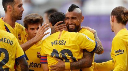 FC Barcelona trekt 0-1 nipt over de streep na goal Vidal op 20ste assist Messi