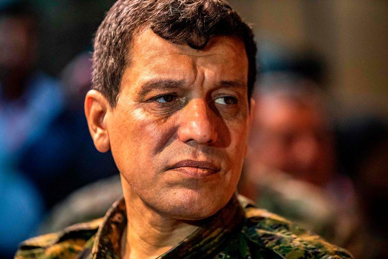Mazloum Abdi, de commandant van de Syrische Democratische Strijdkrachten.