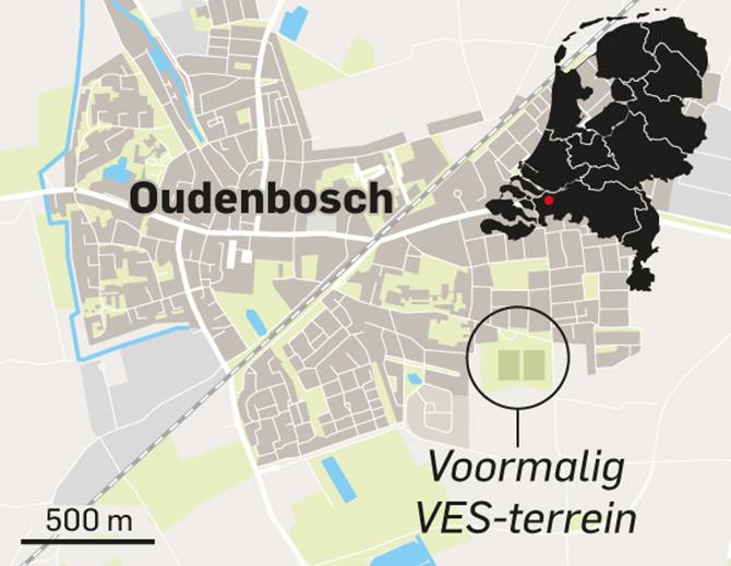 De locatie van het voormalige VES-voetbalterrein in Oudenbosch.