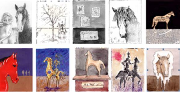 Enkele werken van het 'Project Paard' in Boom.