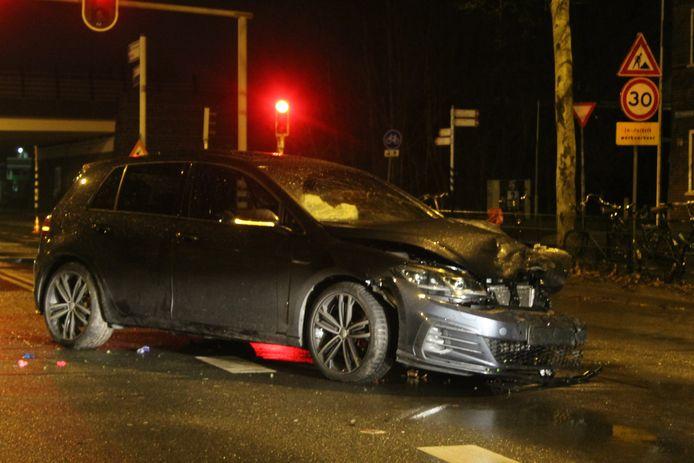 Eén van de twee auto's die total loss is verklaard.