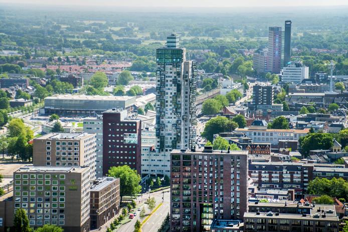 In Tilburg en andere grote steden wonen mensen veel in appartementen, die gemiddeld veel kleiner zijn