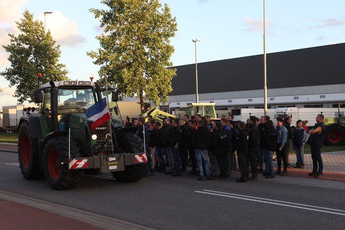 Boerenprotest in Veghel.