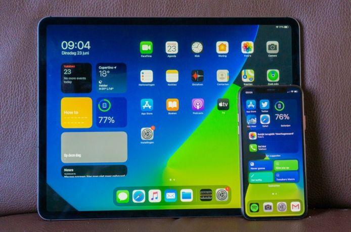 iOS 14 op iPad en iPhone.