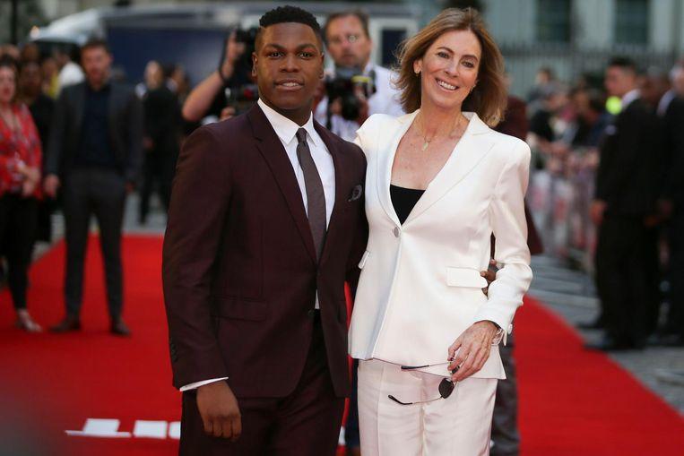 John Boyega en Kathryn Bigelow. Beeld afp