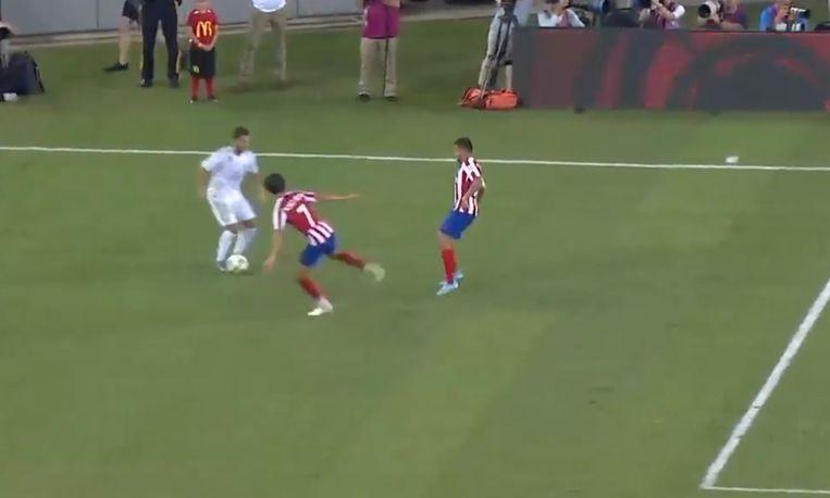 Eden Hazard gaf zijn eerste assist in het Real-shirt.
