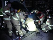 Brandweer haalt halve auto uit elkaar om zwaargewonde, beknelde kat te redden in Arnhem