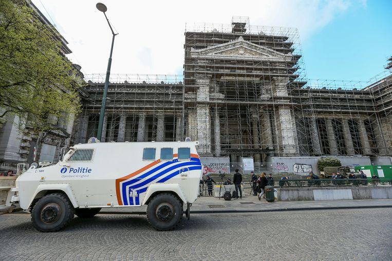 Het Brusselse gerechtshof waar het proces tegen Salah Abdeslam en Sofiane Ayari plaatsvond in februari vorig jaar.