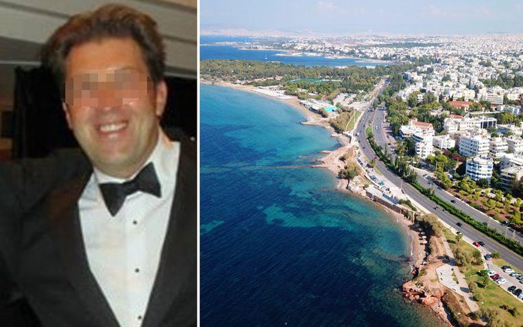 Kristof Waegeman (44) woonde met zijn Braziliaanse vriendin in een exclusieve buitenwijk van Athene, vlak bij de zee.