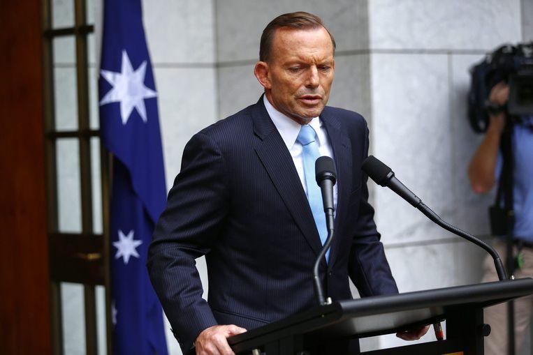 De Australische premier, Tony Abbott.
