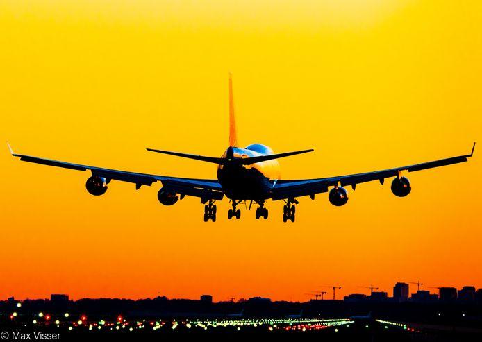 De Boeing 747.