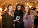 Festivalvriendinnen: Sigrid Stamkot (De Telegraaf), Fenna Ketting (Iconic pr) en Josien Wolthuizen (Het Parool/tipgever).