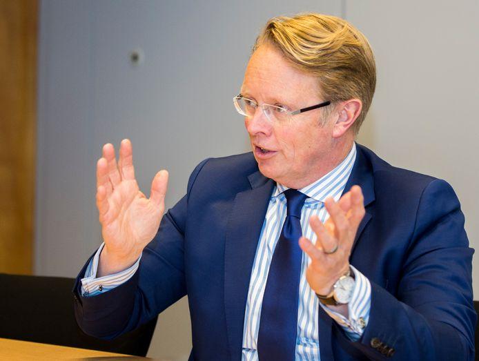 Voormalig directeur-generaal Hans Leijtens van de Belastingdienst. De hoogste ambtenaar moest begin vorig jaar het veld ruimen van zijn toenmalige politieke baas Eric Wiebes.