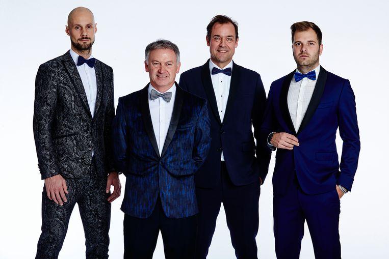 Onze vier analisten: Marc Degryse, Marc Degryse, Filip Dewulf en Niels Albert.