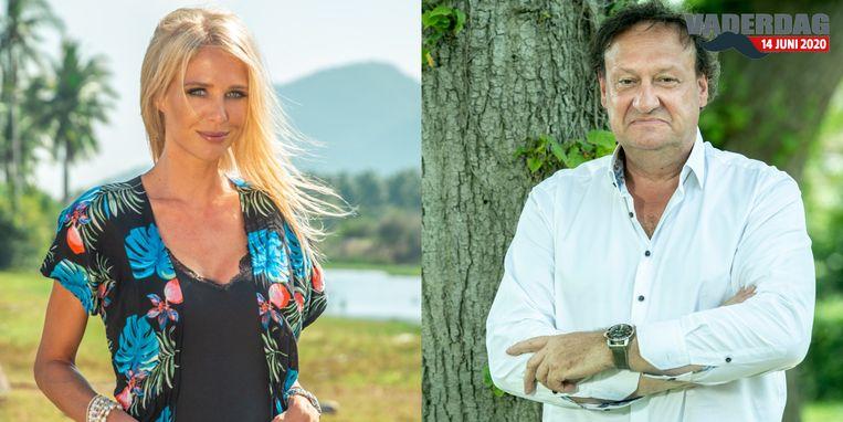 Annelien Coorevits en haar vader Jacky.