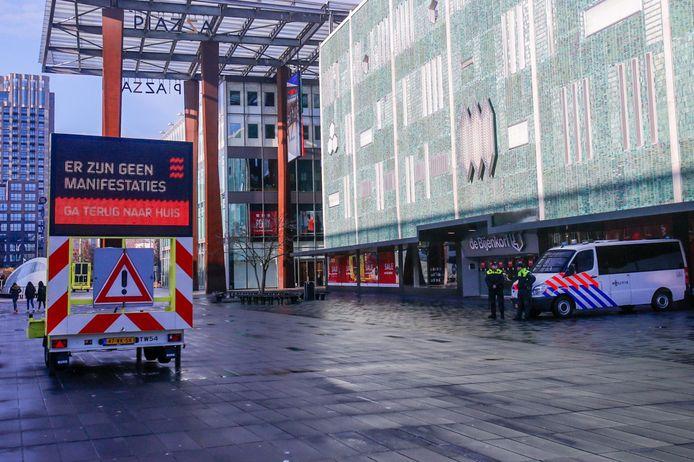 Rond het middaguur was het nog rustig in de binnenstad van Eindhoven.