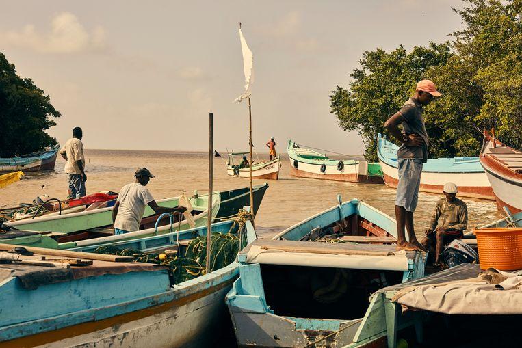 Vissers in Guyana maken zich zorgen over de oliewinning.  Beeld Hollandse Hoogte