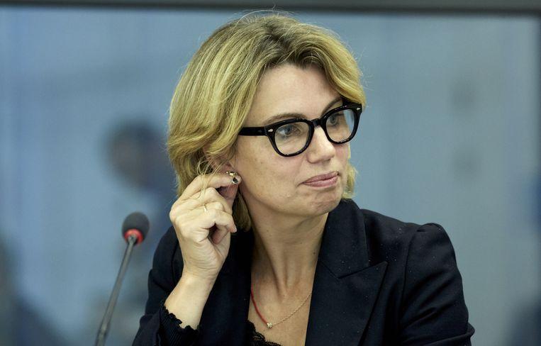 PvdA-Kamerlid Roos Vermeij tijdens de bespreking van de nieuwe pensioenregels met de Commissie van Sociale Zaken en Werkgelegenheid van de Tweede Kamer. Beeld anp