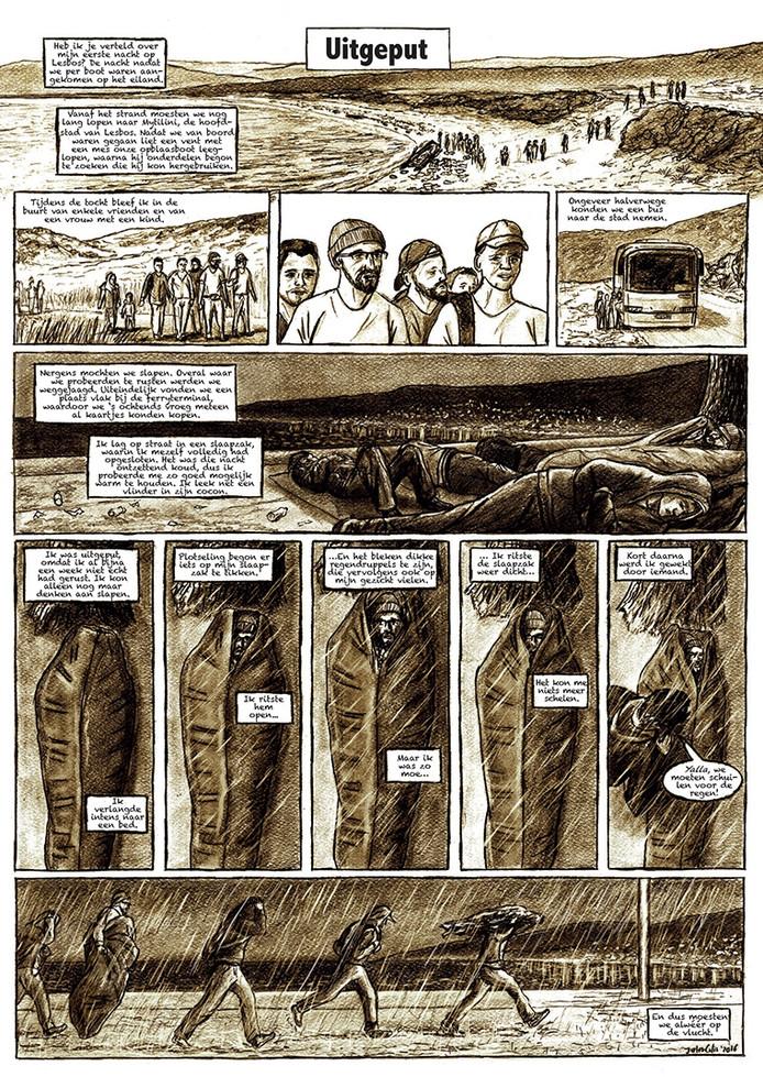 'Gevlucht' Stripverhaal donderdag in de krant