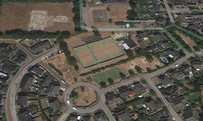 Het tennispark van Reek aan de Scheenen.