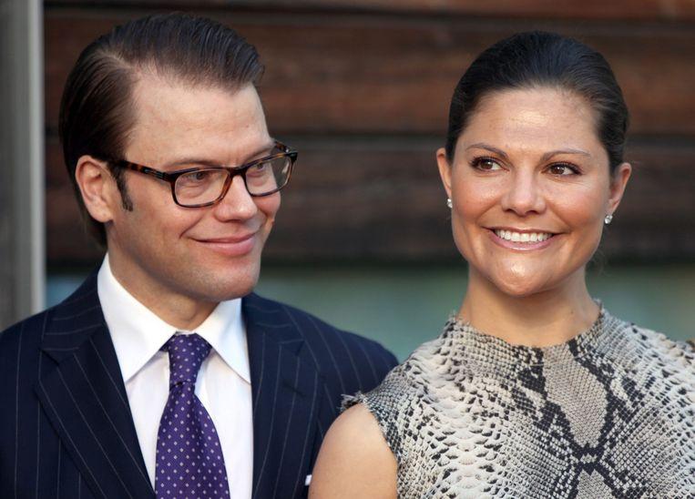 Prinses Victoria en haar man prins Daniel.