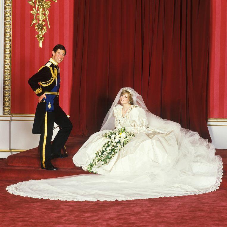 Charles en Diana bij hun huwelijk in 1981. Beeld Lichfield/Getty Images