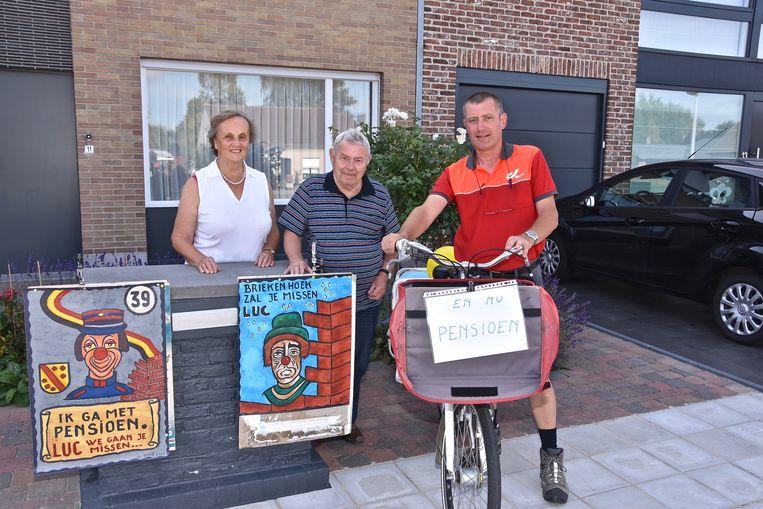 Postbode Luc Decorte gaat met pensioen - Guido Deput maakte twee schilderijen