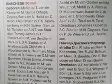 Door storing tijdelijk geen burgerlijke stand in Enschedese editie Tubantia