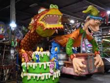 Deze carnavalswagens zouden vandaag eigenlijk door Tilburg trekken: 'We breken hem zo goed als zeker af'